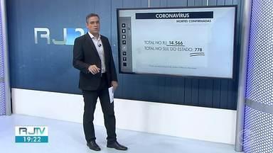 RJ2 atualiza os casos de coronavírus no sul do estado - Angra dos Reis, Paraíba do Sul e Três Rios registraram mortes causadas pela Covid-19 nesta segunda-feira (17).
