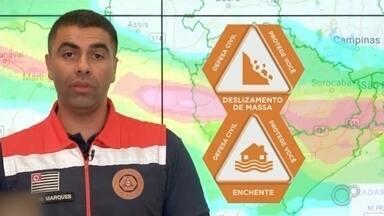 Defesa Civil alerta para ventos fortes e raios nas regiões de Sorocaba e Itapeva - A Defesa Civil alerta para ventos fortes e raios nas regiões de Sorocaba e Itapeva (SP) ao longo da semana.