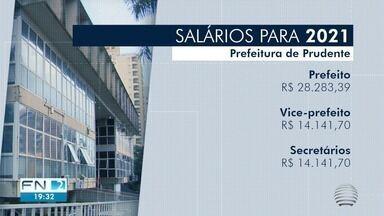 Câmara mantém salários de cargos políticos para o próximo mandato em Prudente - Com a votação desta segunda-feira (17), o salário do prefeito permanece em R$ 28,2 mil e o dos secretários e vice-prefeito em R$ 14,1 mil. Já o dos vereadores segue em R$ 7 mil.