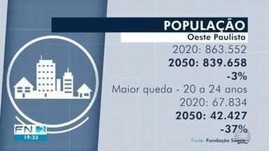 Fundação divulga projeção da população daqui a 30 anos - Perfil dos moradores do Oeste Paulista deve mudar bastante até lá.