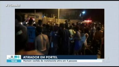 Homem vestido de mototaxista atira em quatro pessoas em Portel - Homem vestido de mototaxista atira em quatro pessoas em Portel