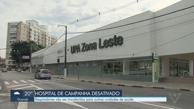 Hospital de campanha na UPA Zona Leste é desativado em Santos - Respiradores vão ser transferidos para outras unidades de saúde do município.