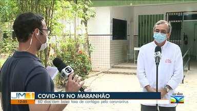 Maranhão está há 60 dias com taxa de contágio da Covid-19 reduzida - O repórter Adailton Borba tem mais informações.