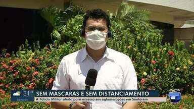 Decreto suspende toque de recolher em Santarém; bares poderão funcionar até mais tarde - O uso massivo de máscaras no município continua obrigatório. Missas e cultos podem reunir até 300 pessoas.