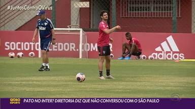 Sem Guerrero, Pato entra em pauta no Inter, mas diretoria nega tratativa com São Paulo - Clube gaúcho avalia possibilidades de contratar atacante revelado no Beira-Rio, mas não abriu conversas até o momento
