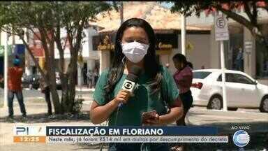 Floriano já soma R$ 14 mil em multas para pessoas e estabelecimentos - Floriano já soma R$ 14 mil em multas para pessoas e estabelecimentos