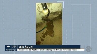 Moradores de Rondonópolis sem água em casa - Moradores de Rondonópolis sem água em casa
