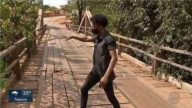 Ponte em péssimas condições preocupa moradores de Rondonópolis - Ponte em péssimas condições preocupa moradores de Rondonópolis