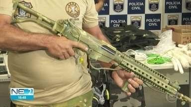 Polícia detalha operação que prendeu suspeitos e apreendeu armamentos de guerra - Segundo corporação, grupo pretendia explodir muro de presídio para libertar detentos