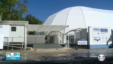 Hospital de Campanha Lagoa-Barra, no Leblon, vai fechar nesta quinta-feira, 20 de agosto - Unidade foi inaugurada em abril e teve 742 pacientes internados. A UTI chegou a ficar ocupada por 680 pessoas. No dia 17 de agosto, segunda-feira, apenas cinco leitos estavam ocupados.