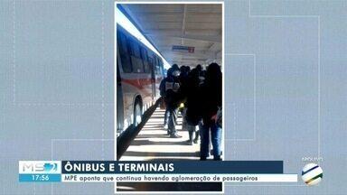 MPE aponta que aglomeração de passageiros em ônibus e terminais da capital continua - MPE aponta que aglomeração de passageiros em ônibus e terminais da capital continua