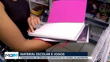 Itens escolares e jogos educativos lideram vendas nas papelarias de Uberaba - Mesmo com a pandemia da Covid-19, comerciantes do setor comemoram as vendas durante o período.