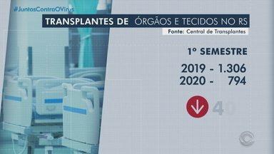 Transplantes de órgãos diminui em 40% no primeiro semestre do ano no RS - Filas de espera ficaram maiores devido às restrições causadas pelo coronavírus e a lotação dos hospitais.
