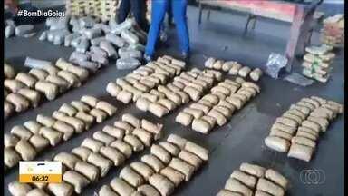 Polícia apreende mais de 25 toneladas de drogas desde o início do ano em Goiás - Pela posição geográfica do estado, Goiás acaba sendo rota de tráfico.