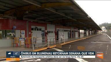 Ônibus em Blumenau devem voltar a circular dia 25 de agosto - Ônibus em Blumenau devem voltar a circular dia 25 de agosto