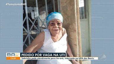 Familiares de pacientes em estado grave fazem apelo para conseguir vagas em UTI - O secretário de saúde da Bahia, Fábio Vilas Boas, fala sobre o assunto. Confira.