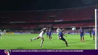 Luciano faz gol na estreia e salva o São Paulo de derrota para o Bahia - Luciano faz gol na estreia e salva o São Paulo de derrota para o Bahia