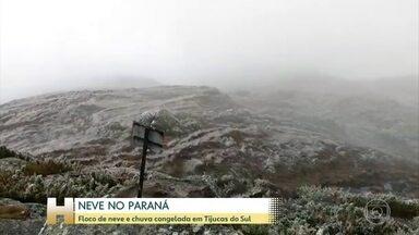 No Paraná, as temperaturas caíram por todo o estado - A neve esperada no sul do Paraná não caiu.
