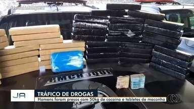 Dois homens são presos com 50 kg de cocaína em hotel de Goiânia - Outras duas mulheres, suspeitas de participação, estão sendo procuradas pela polícia.