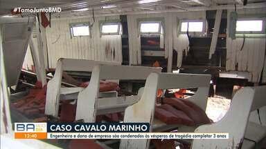 Empresa, engenheiro e dono da lancha naufragada em Mar Grande há três anos são condenados - A tragédia com a embarcação Cavalo Marinho 1 deixou 19 pessoas mortas. Familiares das vítimas ainda aguardam a conclusão do processo judicial.