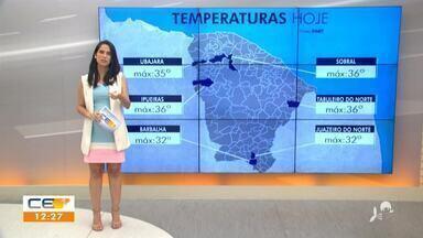 Veja a previsão do tempo no Ceará com Camila Marcelo - Saiba mais em g1.com.br/ce