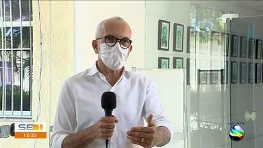 Prefeito de Aracaju fala sobre reunião com representantes do setor de eventos - Prefeito de Aracaju fala sobre reunião com representantes do setor de eventos.
