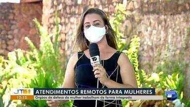 Órgãos de defesa da mulher trabalham de forma integrada em Santarém - Atendimentos remotos são realizados.