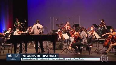 Orquestra Ouro Preto faz vinte anos e comemora com live - A paixão de uma família pela música deu início à orquestra da cidade histórica.