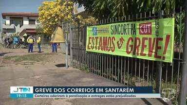 Carteiros de Santarém aderiram à paralisação e entregas estão prejudicados - Confira.