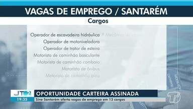 Sine divulga lista com vagas de emprego para 13 cargos em Santarém e Porto Trombetas - Quem estiver em busca de oportunidade de emprego pode ir até o Sine em Santarém e apresentar os documentos para cadastro.