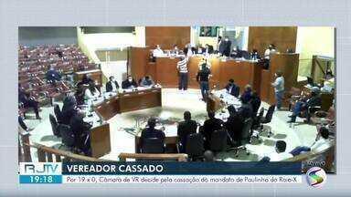 Câmara de Volta Redonda decide pela cassação do mandato do vereador Paulinho do Raio-X - Votação terminou em 19 a 0 a favor da cassação. Ele é acusado de pedir dinheiro para impedir a abertura de impeachment do prefeito Samuca Suilva.
