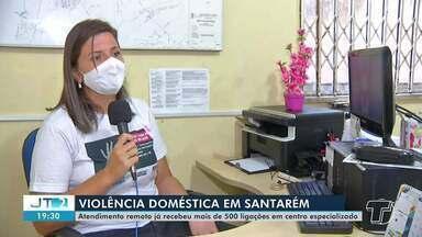 Atendimento remoto para mulheres já recebeu mais de 500 ligações em centro especializado - Combate à violência doméstica em Santarém.