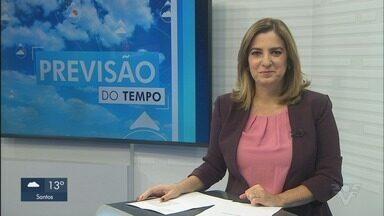Confira a previsão do tempo para este sábado na Baixada Santista e Vale do Ribeira - Frente fria atingiu toda as duas regiões.