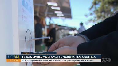 Feiras Livres voltam a funcionar em Curitiba - Feiras precisam respeitar normas de prevenção ao coronavírus.