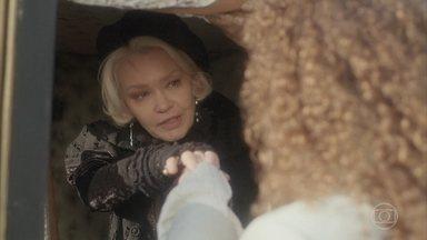 Greta se encontra com Sebastião - Greta pretende armar algo contra Matias e Diara