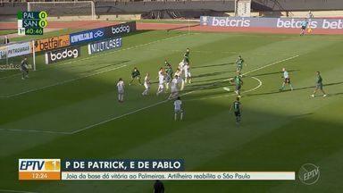 Palmeiras vence clássico e artilheiro reabilita o São Paulo - Veja os principais lances das partidas.