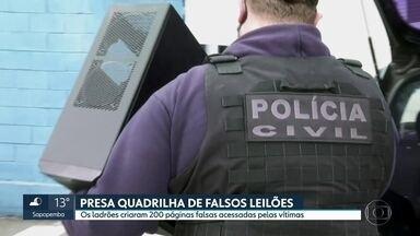 Polícia de São Bernardo do Campo investiga falsos sites que promoviam leilão de carros - As vítimas pagavam mas não recebiam o veículo. Cinco suspeitos foram presos