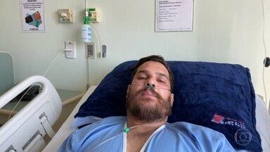 Cantor Cauan deve receber alta do hospital no começo da tarde - O cantor, que faz parte da dupla Cléber e Cauan, está internado com covid-19 há 15 dias em Goiânia, e chegou a ficar 10 internado em uma UTI.
