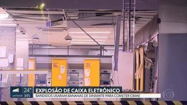 Bandidos usam dinamite para explodir caixa eletrônico em Ceilândia - Ladrões não conseguiram levar dinheiro.