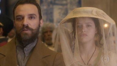 Domitila assiste à coroação de Dom Pedro - Francisco admite que a irmã pode se reconciliar com o Imperador no futuro