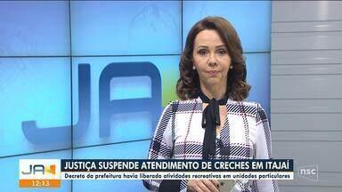 Justiça suspende atividades em creches particulares de Itajaí após liberação da prefeitura - Justiça suspende atividades em creches particulares de Itajaí após liberação da prefeitura