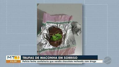 Polícia fecha confeitaria suspeita de vender chocolate recheado com drogas em Sorriso - Polícia fecha confeitaria suspeita de vender chocolate recheado com drogas em Sorriso