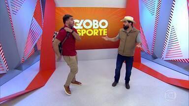 Messi não se reapresenta no Barcelona e.... Maurício quase perdeu o Globo Esporte! - Almadão quase teve o seu dia de apresentador