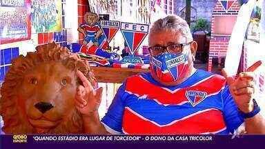 """""""Quando estádio era lugar de torcedor"""": conheça o dono da casa tricolor - Saiba mais em ge.globo/ce"""