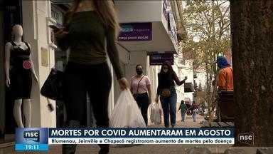 Blumenau, Joinville e Chapecó têm aumento de mortes pela Covid - Blumenau, Joinville e Chapecó têm aumento de mortes pela Covid