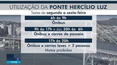 Veículos devem ser liberados na Ponte Hercílio Luz neste mês - Veículos devem ser liberados na Ponte Hercílio Luz neste mês