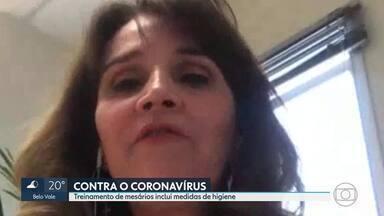 Começa o treinamento dos mesários para as eleições de novembro - A justiça eleitoral de Minas vai convocar cerca de 209 mil pessoas para trabalhar. Neste ano, o treinamento inclui medidas de higiene contra o coronavírus.