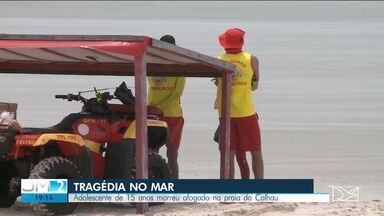 Adolescente de 15 anos morre afogado na praia do Calhau - Veja mais informações com o repórter Adaílton Borba.