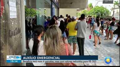 Auxílio emergencial terá mais 4 parcelas, com valor reduzido para R$ 300 - Prorrogação do benefício.