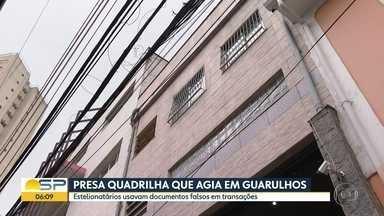 Quadrilha de estelionatários foi presa em Guarulhos - Grupo usava documentos falsos em transações.